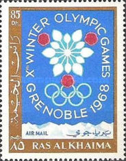 [Airmail - Winter Olympic Games - Grenoble, France, Typ FW]