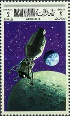[Airmail - Space Programs Apollo 10 and 11, Typ JW]