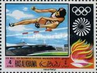 [Airmail - Olympic Games - Munich 1972, Germany, Typ MF]