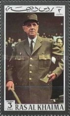 [Airmail - Charles de Gaulle, French General and Politician, Typ XF]
