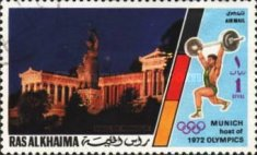 [Airmail - Olympic Games - Munich, Germany - Munich Buildings, Typ ZE]