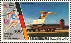 [Airmail - Olympic Games - Munich, Germany - Munich Buildings, Typ ZF]