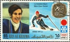 [Airmail - Gold Medal Winners of Winter Olympic Games - Sapporo, Japan, Typ ZM]
