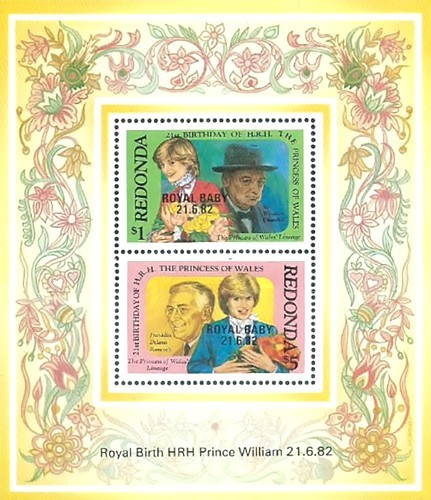 "[Previous Issue Overprinted ""Royal Baby 21.6.82"", type ]"