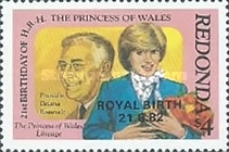 "[Previous Issue Overprinted ""Royal Baby 21.6.82"", type CL1]"