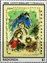 [Paintings - The 100th Anniversary of the Birth of Marc Chagall, 1887-1985, type GW]