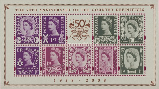 [The 50th Anniversary of the Country Definitives, type ]