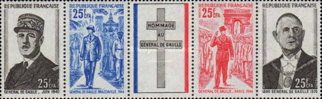 [The 1st Anniversary of the Death of Charles de Gaulle, 1890-1970, type ]