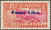 """[Stamps of 1907 Overprinted """"France Libre"""", type BG1]"""