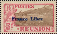 """[Stamps of 1907 Overprinted """"France Libre"""", type BG2]"""