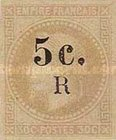 [French Colonies Postage Stamps Overprinted and Surcharged, type C1]