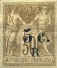 [French Colonies Postage Stamps Overprinted and Surcharged, type C3]