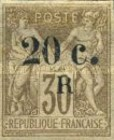 [French Colonies Postage Stamps Overprinted and Surcharged, type C6]
