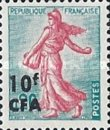 [Stamps of France Surcharged, type DA3]