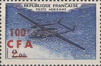 [Airmail - Stamps of France Surcharged, type DC]