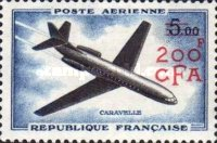 [Airmail - Stamps of France Surcharged, type DC1]