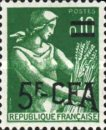 [Stamp of France Surcharged, type DD]