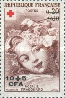 [Red Cross - Stamps of France Surcharged, type DE]