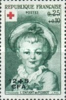 [Red Cross - Stamps of France Surcharged, type DE1]