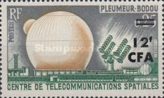 """[The 1st Live Satellite TV Transmission between America and Europe by """"Telstar"""" - Stamps of France Overprinted CFA and Surcharged, type DF]"""