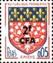 [Stamps of France Surcharged, type DG]