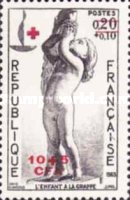 [Red Cross - Stamps of France Overprinted CFA and Surcharged, type DH]