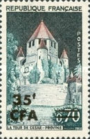 [Stamp of France Surcharged, type DL]