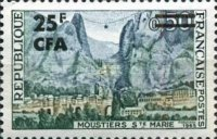[Stamp of France Surcharged, type DP]
