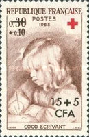 [Red Cross - Stamps of France Overprinted CFA and Surcharged, type DR1]