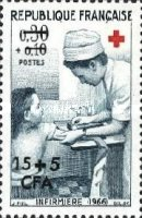 [Red Cross - Stamps of France Overprinted CFA and Surcharged, type DU1]