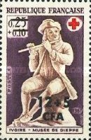 [Red Cross - Stamp of France Overprinted CFA and Surcharged, type EA]