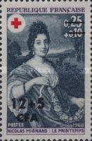 [Red Cross - Stamps of France Overprinted CFA and Surcharged, type ED]