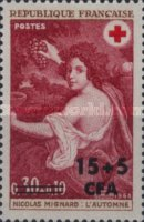[Red Cross - Stamps of France Overprinted CFA and Surcharged, type ED1]