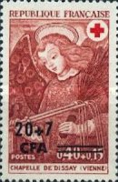 [Red Cross Stamps of France Surcharged, type EK1]