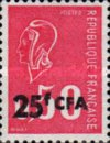 [Marianne - Stamp of France Surcharged, type EL]