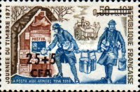 [Day of the Stamp - Stamp of France Surcharged, type EM]