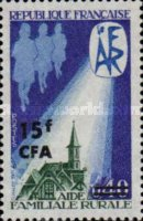 [Rural Aid - Stamp of France Surcharged, type EO]