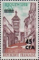 [Stamps of France Surcharged, type EP]