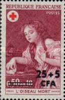 [Red Cross - Stamps of France Surcharged, type EW1]