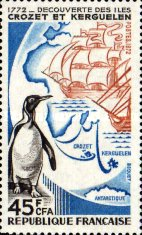 [The 200th Anniversary of Discovery of Crozet and Kerguelen Islands, type EY]