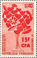 [The 20th Anniversary of Blood Donation at the PTT - Stamp of France Surcharged, type FA]