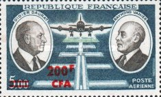 [Airmail - Stamps of France Surcharged, type FB]