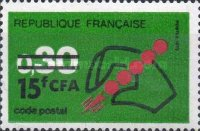 [Postal Codes - Stamps of France Surcharged, type FC]