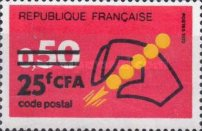 [Postal Codes - Stamps of France Surcharged, type FC1]
