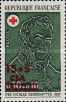 [Red Cross - Stamp of France Surcharged, type FD]
