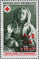 [Red Cross - Stamps of France Surcharged, type FI]