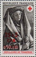 [Red Cross - Stamps of France Surcharged, type FI1]