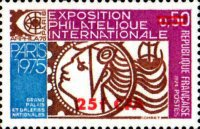 """[International Stamp Exhibition """"ARPHILA '75"""" - Paris, France - Stamp of France Surcharged, type FJ]"""