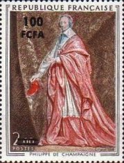 [Art - Stamp of France Surcharged, type FL]