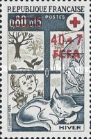 [Red Cross - Stamps of France Surcharged, type FR1]